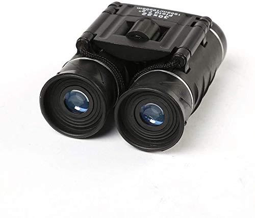 HZWLF Binoculares compactos de Regalo 30x22, Enfoque fácil de Alta Potencia, con visión Clara con luz débil, óptica Multicapa Durable, Ocular Grande de 32 mm Lente BAK4 Prism FMC,
