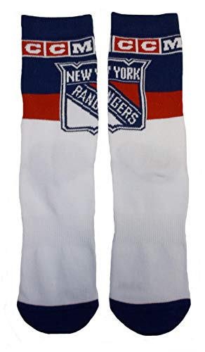 CCM New York Rangers Socks - 1 Pair - Mens Size 9-11