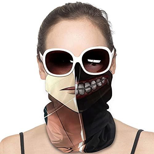 Tokyo Ghoul Ken Kaneki - Polainas para el cuello de anime, calentador de pañuelo, pañuelo para pasamontañas, impresión 3D, reutilizable, multifuncional, para viajes, Tokyo Ghou Kaneki-3, Talla única