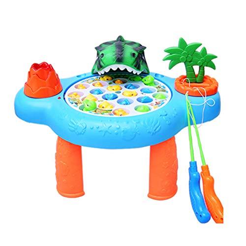 STOBOK Giochi di Pesca Magnetica Elettrico Musica Giochi Musicali per Bambini Giochi educativi per Bambini (Senza Batteria)