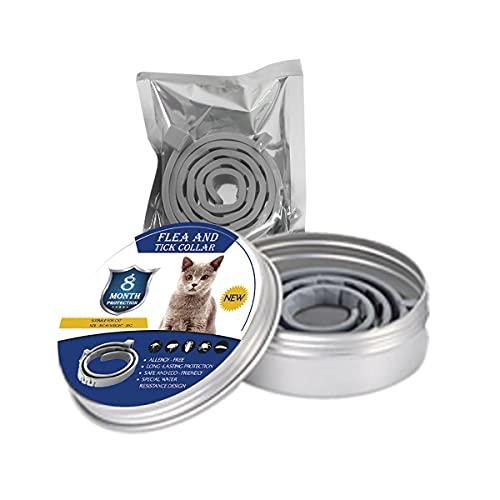 NZQLJT Collar Antipulgas para Perros 25', Collar Repelente De Plagas De Longitud Regulable, Eficaz Collar Antipulgas Y Garrapatas 7-8 Meses De Protección