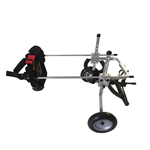 Scooter para perros para discapacitados para sillas de ruedas, vehículo de rehabilitación de extremidades para gatos, entrenamiento de rehabilitación para mascotas Silla de ruedas 2 ruedas Carrito par