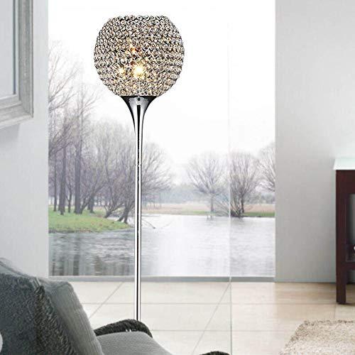WANGIRL Moderne Kristall Wohnzimmer Stehleuchte Silber Chrom Schlafzimmer Bodenleuchten (9.84