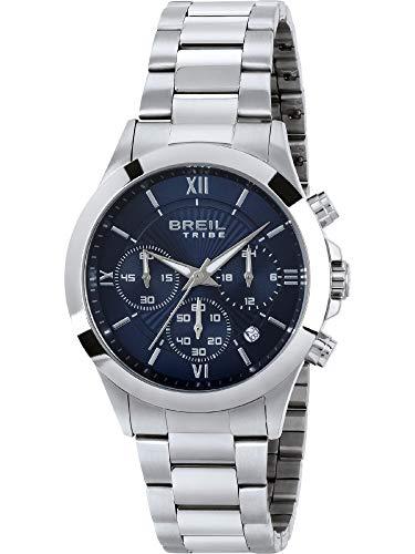 Breil - Reloj de hombre Choice con esfera monocromática y movimiento de cuarzo y pulsera de acero