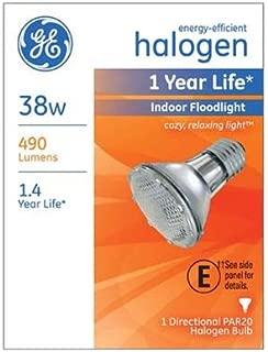 G E Lighting 69163 Halogen Floodlight Bulb, Indoor, Par 20, 38-Watt - Quantity 6