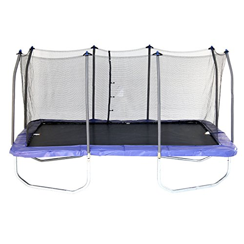 Skywalker Trampolines 15-Foot Rectangle Trampoline with Enclosure Net – Shape Provides Great Bounce – Gymnast Trampoline – Added Safety Features – Meets or Exceeds ASTM – Made to Last