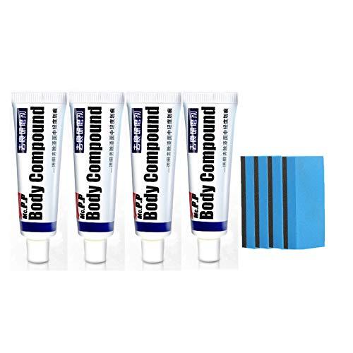 4PCS Professional Autokratzer-Reparaturmittel, Autolack-Kratzreparatur-Wachsschleifmittel, Mehrzweck-Autokratzerentferner, Autokörperpolierwachs-Polierschwammpolster-Kit-Verbindung
