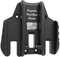 Magnetic Gun Mount Pro, Quickdraw Design for Handgun, Pistol ,Magazines, Concealed Holder&Holster on Car, Truck, Safe, Desk, Door, Wall, Office, Rated Max up to 15 LBS