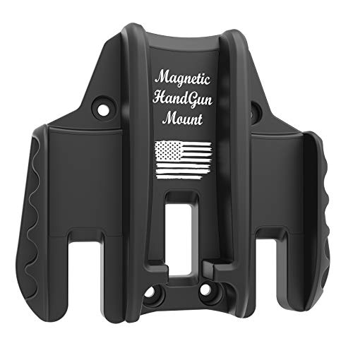 Magnetic Gun Mount Pro, Quickdraw Design for Hangun, Pistol ,Magazines, Concealed Holder&Holster on Car, Truck, Safe, Desk, Door, Wall, Office, Rated Max up to 15 LBS