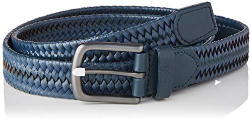 Levi's Woven Leather Stretch Belt Cintura, Blu Navy, 75 Uomo