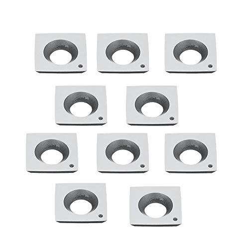 Lot de 10 inserts carrés en carbure de tungstène 4 bords 15 x 15 x 5 mm pour tour de bois Outil avec boîte COD