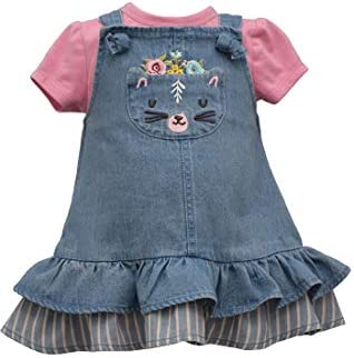 Bonnie Jean Girl s Denim Cat Dress for Baby and Toddler 2T product image