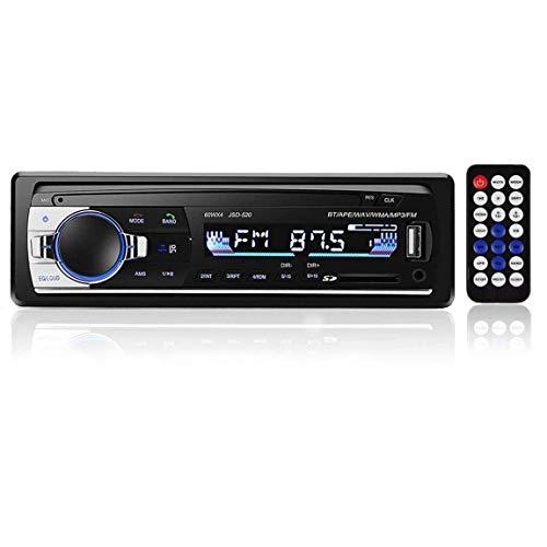 WEPARTICULAR 1 DIN in-Dash Bluetooth Autoradio Stereo Digitale Bluetooth Vivavoce Audio Musica 12V Auto Lettore multimediale MP3 USB/SD/AUX-in con Telecomando