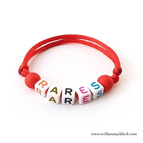 Namensarmband RARES (reversibel, anpassbar) Mann, Frau, Kind, Baby, Neugeborenes.