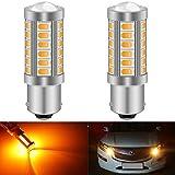 KATUR 2pcs BAU15S 7507 1156PY PY21W 5630 33-SMD Ambre 900 Lumens Super Bright LED Tourner Le Frein d'arrêt Signal Signal Light Ampoule 12V 3.6W