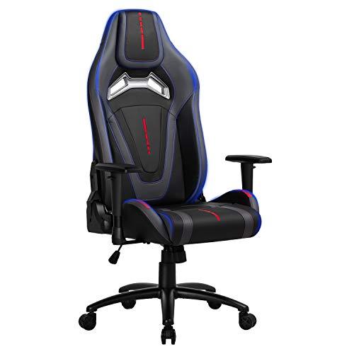 mfavour Gaming-Stuhl für Schreibtisch, ergonomischer Gaming-Sessel, drehbar mit Rollen, höhenverstellbar und Lendenstütze