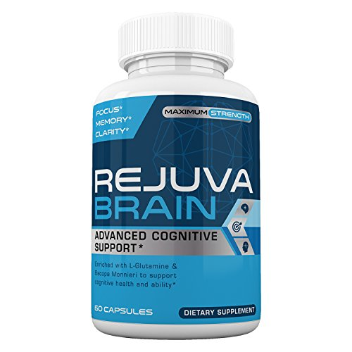 Rejuva Brain- Advanced Cognitive Support- Enriched w/L-Glutamine & Bacopa Monnieri to Support Cognitive Health and Ability