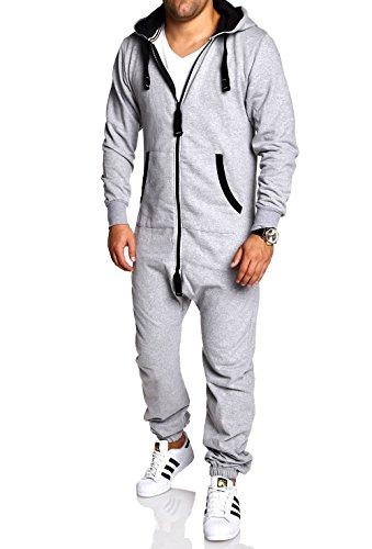 MT Styles Jumpsuit Jogger Jogging Anzug MJ-2154 [Grau, XXL]