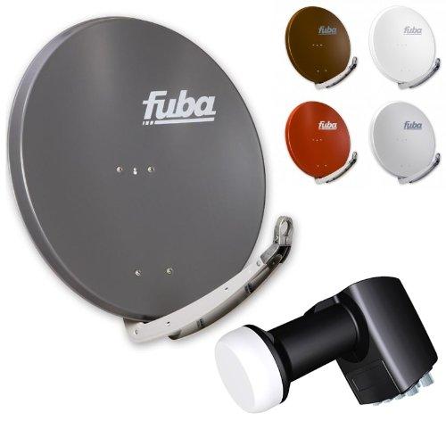 Fuba DAA 850 HD Sat Anlage - 8 Teilnehmer - Sat Anlage bestehend aus Fuba DAA 850 in Ihrer Wunschfarbe + Inverto Octo-Switch-LNB