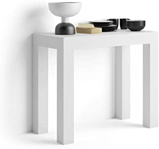 Mobilifiver Mesa Consola Extensible Modelo First Color Blanco Ceniza 90 x 45 x 75 cm