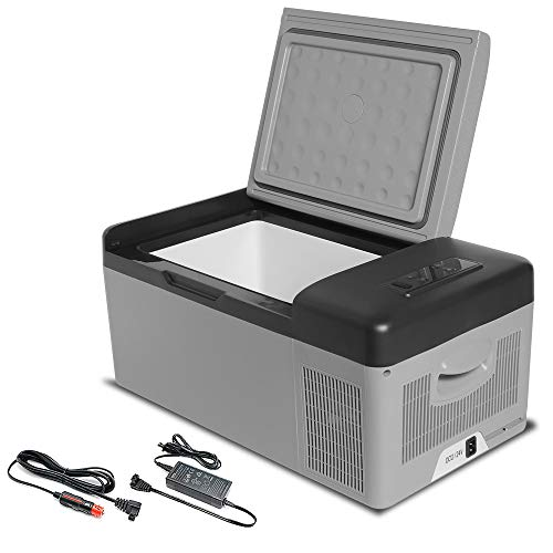Portable Refrigerator Cooler Freezer for Vehicle, RV, Boat, Trucker AC/DC for Travel, Fishing, Outdoors & Camping (16 Quart (15L)