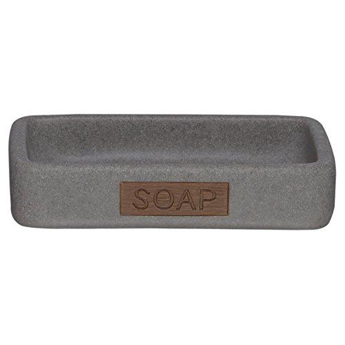 Sealskin Seifenschale Pierra, Polyresin, Farbe: Farbe: Grau