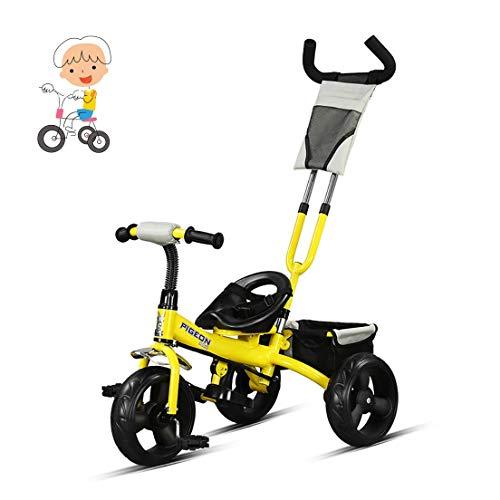 Los niños trolley dos colores mediante el empuje del triciclo del bebé niños y niñas de peso ligero de la bicicleta de los niños que montan triciclo 2 años de edad 1-3-6 años de edad, de un triciclo f