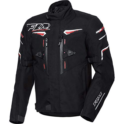 FLM Motorradjacke mit Protektoren Motorrad Jacke Sports Textiljacke 5.0 schwarz XXL, Herren, Sportler, Ganzjährig