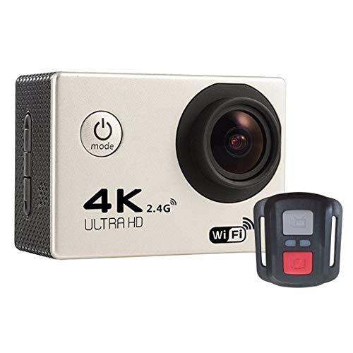 Ychaoya F60R 2,0-inch scherm 4K 170 graden groothoek WiFi Sport Action Camera Camcorder met waterdichte behuizing Case & afstandsbediening, ondersteuning 64 GB Micro SD-kaart (zwart), zilver