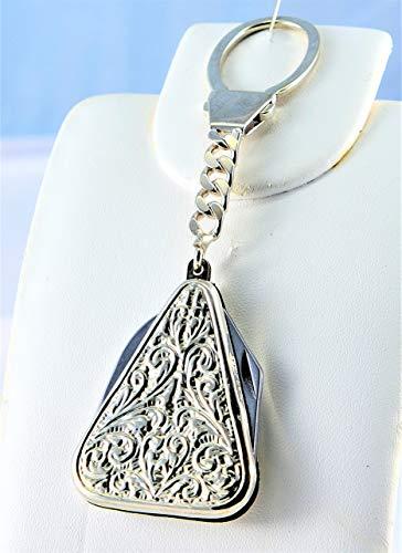 De Santis sleutelhanger Multiuso kurkentrekker en mes van 925 zilver