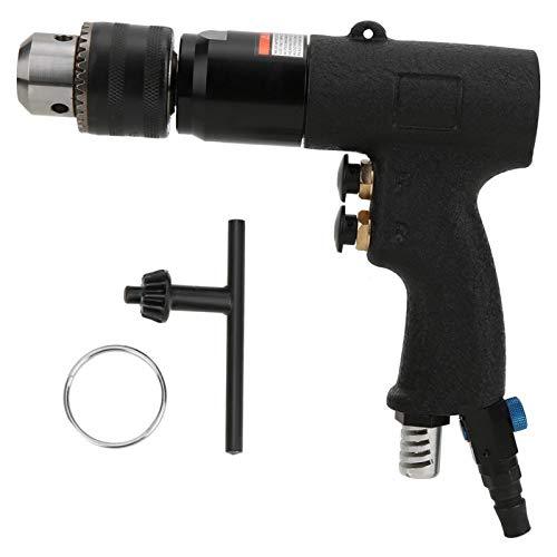 Taladro de aire 1/2, herramienta de perforación de orificio de taladro de aire de 13 mm, taladro neumático de grado industrial, taladro neumático CW/CCW taladro neumático tipo ametralladora taladro de