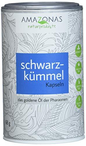 Amazonas Naturprodukte Schwarzkümmelöl Kapseln 500 Mg Pro Kapsel Kaltgepresst Aus Ägyptischen Samen