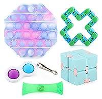 感覚指紋のおもちゃセット、5個のPCS反不安のストレスリリーフ大人のための玩具子供たち、ストレス不安のための官能療法のおもちゃ、子供のための贈り物、そして大人の自閉症(ランダム) (Color : Random)