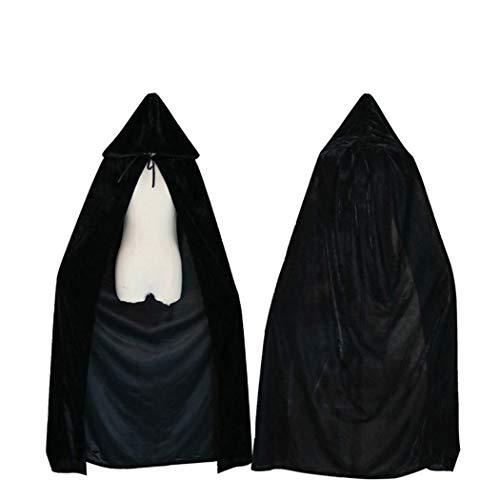 Xiaoai's winkel Een mantel Halloween kostuums, volwassen vampier cape mantel, podium performance kleding cosplay,Zwart, Hoogte: 110cm