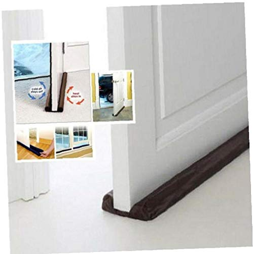 Zonfer 1pc Door Noise Blocker Door Draft Stopper Dust Proof Strip Adjustable Under Door Guard