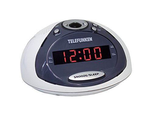 Telefunken R1005 Radiowecker (PLL-Tuner, UKW-Radio, Dual Alarm, Sleep-Timer) weiß