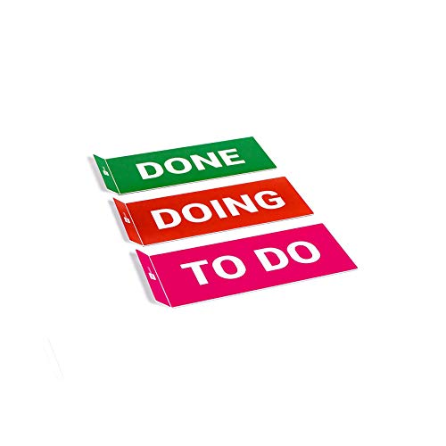 PATboard Scrum Board and Kanban Board COLUMNcards Magnetic - Set of 3 Column Cards (to DO, Doing, Done)