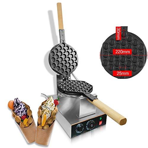 Aocay Bubble Waffeleisen, Bubble Waffle Maker, Waffeleisen Belgische Waffel Elektrisch 180° Drehbare, Edelstahl Waffelmaschine Waffelgerät Waffelautomat, 50℃ -250℃