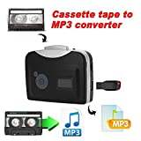 Microware Cassette Player - Portable Tape Player Captures MP3 Audio Music via USB - Compatible with Laptops and Personal Computers - Convert Walkman Tape Cassettes to iPod Format