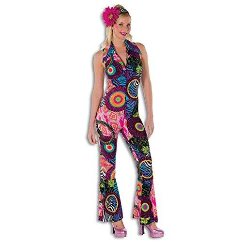 PARTY DISCOUNT NEU Damen-Kostüm Hippie Catsuit Circle, Gr. 34