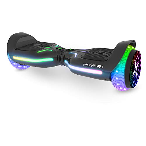 Hover-1 i100 Electric Hoverboard Scooter with Infinity LED Wheel Lights, Black, one Size (H1-100-BLK)