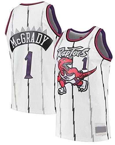 WSUN Maglie da Basket Classiche da Uomo - NBA Raptors # Tracy McGrady Swingman Jersey Retro Uniforme da Fan Unisex Confortevole/Leggera/Traspirante,A,M