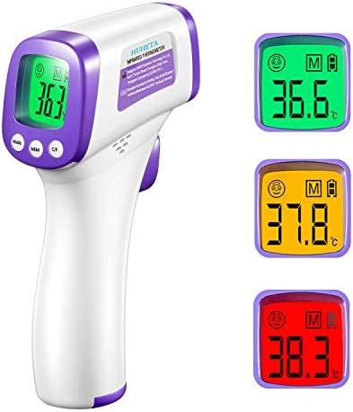 Termometro Infrarrojos HUHETA Termometro digital sin contacto, termometro para bebés y adultos