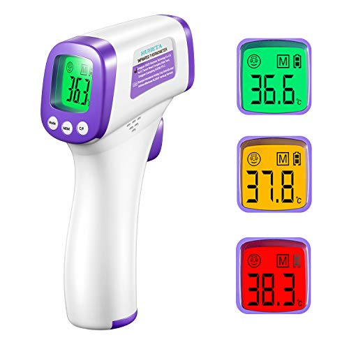 Fieberthermometer HUHETA, Infrarot Thermometer Digitales Thermometer für Kind, Erwachsene