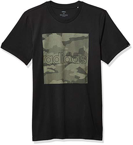 adidas Herren Camouflage-T-Shirt, Herren, T-Shirt, M Camo Box T, Schwarz/Legacy Green, Medium