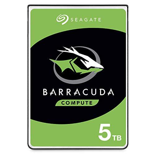 """Seagate BarraCuda, 5 To, Disque dur interne HDD – 2,5"""" SATA 6 Gbit/s 5 400 tr/min, 128 Mo de mémoire cache, pour PC portable (ST5000LM000)"""