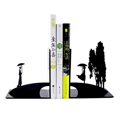 SBDLXY Sujetalibros de Arte Sujetalibros creativos y Simples, decoración del Extremo del Libro de Escritorio de Oficina, Sujetalibros de Hierro Forjado Pareja romántica Sujetalibros Antideslizantes