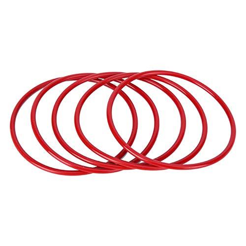 MEIHSI Arandela de Sellado de Resistencia de Anillo tórico de Silicona roja de 100 Piezas con 72 mm