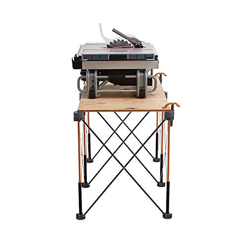 Bora Centipede 2x4 Feet Work Stand and Portable Table | Sawhorse Support with Folding, Collapsible Steel Legs, CK6S