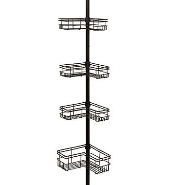Zenna Home E2130HB Tension Corner Pole Caddy, Bronze